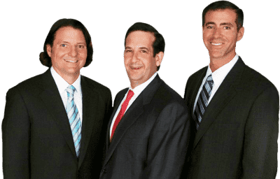From left to right: Attorney Brian C. Johnson, Attorney Ryan D. Bluestein, Attorney Brian G. Burke